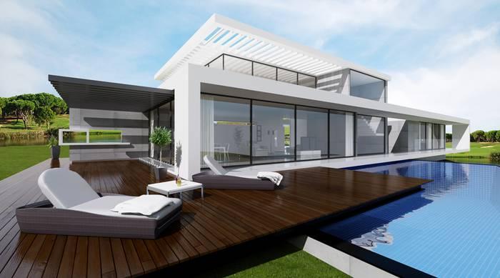 Vila Moderna em Quinta do Lago - Projecto PLAN Architects